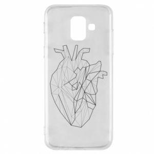 Etui na Samsung A6 2018 Heart line