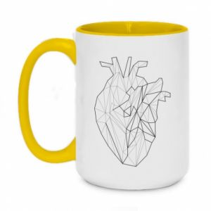 Two-toned mug 450ml Heart line
