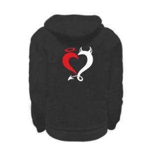 Bluza na zamek dziecięca Heart of satan