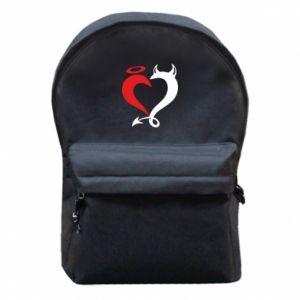Plecak z przednią kieszenią Heart of satan