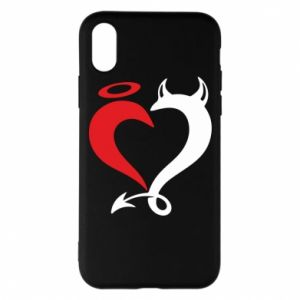 Etui na iPhone X/Xs Heart of satan