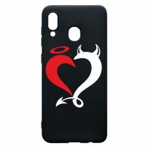Etui na Samsung A20 Heart of satan