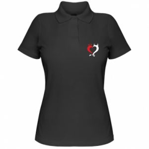 Koszulka polo damska Heart of satan