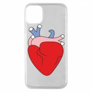 Phone case for iPhone 11 Pro Heart with vessels - PrintSalon
