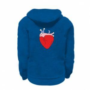 Bluza na zamek dziecięca Heart with vessels