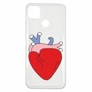 Etui na Xiaomi Redmi 9c Heart with vessels