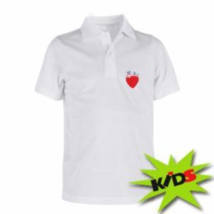 Children's Polo shirts Heart with vessels - PrintSalon