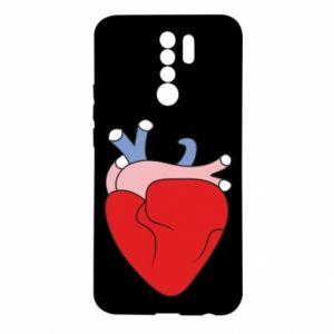 Etui na Xiaomi Redmi 9 Heart with vessels