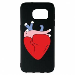 Etui na Samsung S7 EDGE Heart with vessels