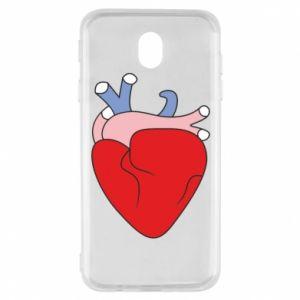 Etui na Samsung J7 2017 Heart with vessels