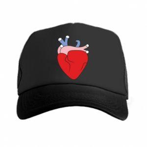 Trucker hat Heart with vessels - PrintSalon