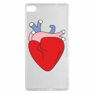Etui na Huawei P8 Heart with vessels