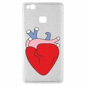 Etui na Huawei P9 Lite Heart with vessels
