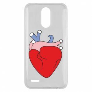 Etui na Lg K10 2017 Heart with vessels