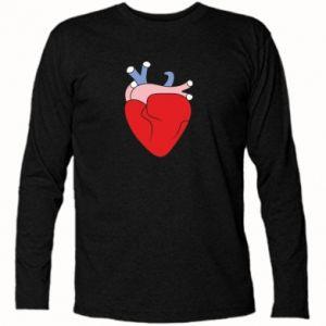 Long Sleeve T-shirt Heart with vessels - PrintSalon