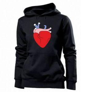 Women's hoodies Heart with vessels - PrintSalon