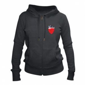 Women's zip up hoodies Heart with vessels - PrintSalon