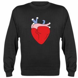 Sweatshirt Heart with vessels - PrintSalon