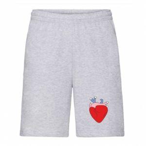 Men's shorts Heart with vessels - PrintSalon