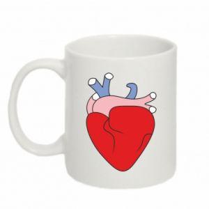 Mug 330ml Heart with vessels - PrintSalon