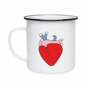 Enameled mug Heart with vessels - PrintSalon