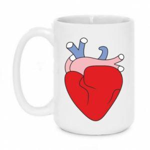 Mug 450ml Heart with vessels - PrintSalon