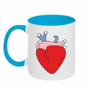 Two-toned mug Heart with vessels - PrintSalon