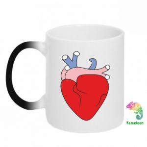 Chameleon mugs Heart with vessels - PrintSalon