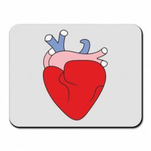 Mouse pad Heart with vessels - PrintSalon