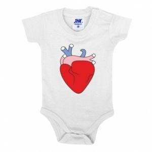 Baby bodysuit Heart with vessels - PrintSalon