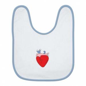 Bib Heart with vessels - PrintSalon
