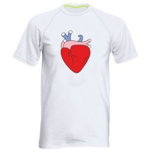 Men's sports t-shirt Heart with vessels