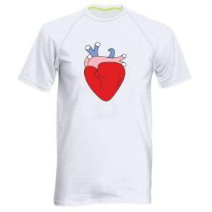 Men's sports t-shirt Heart with vessels - PrintSalon