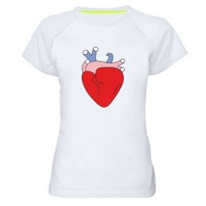 Women's sports t-shirt Heart with vessels