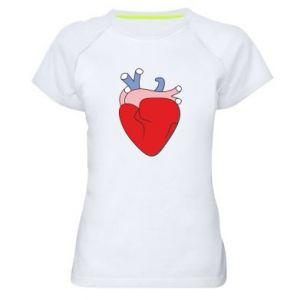 Women's sports t-shirt Heart with vessels - PrintSalon