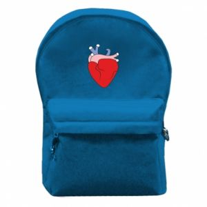 Backpack with front pocket Heart with vessels - PrintSalon