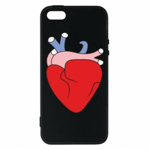 Phone case for iPhone 5/5S/SE Heart with vessels - PrintSalon