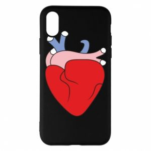 Phone case for iPhone X/Xs Heart with vessels - PrintSalon