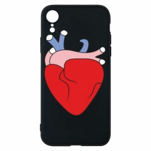 Phone case for iPhone XR Heart with vessels