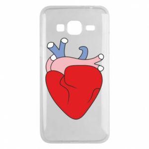 Phone case for Samsung J3 2016 Heart with vessels - PrintSalon