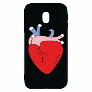 Phone case for Samsung J3 2017 Heart with vessels - PrintSalon