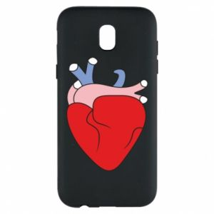Phone case for Samsung J5 2017 Heart with vessels
