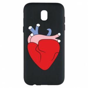 Phone case for Samsung J5 2017 Heart with vessels - PrintSalon
