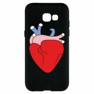 Phone case for Samsung A5 2017 Heart with vessels - PrintSalon