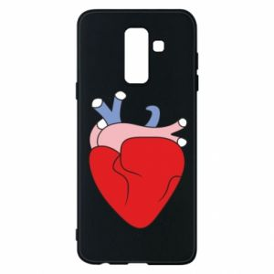 Phone case for Samsung A6+ 2018 Heart with vessels - PrintSalon