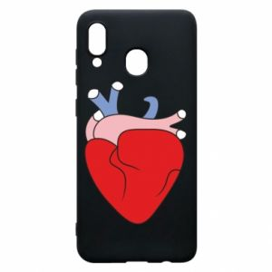 Phone case for Samsung A20 Heart with vessels
