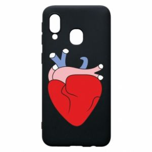 Phone case for Samsung A40 Heart with vessels - PrintSalon
