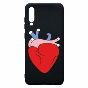 Phone case for Samsung A70 Heart with vessels - PrintSalon