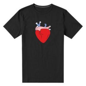 Men's premium t-shirt Heart with vessels - PrintSalon