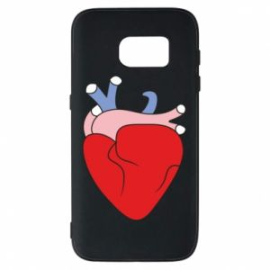 Phone case for Samsung S7 Heart with vessels - PrintSalon